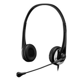 Casque d'écoute Xstream P2 avec microphone réglable et coussinets amovibles par Adesso