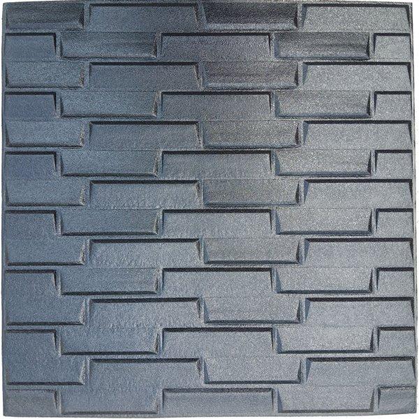 Faux noir brique auto-adhésif Panneau mural 3D, 10-boîte