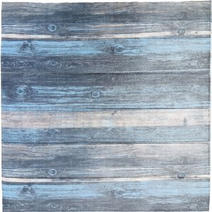 Charcoal Blue Beige Faux Wood Self Adhesive 3D Wall Panel, 10-Pack
