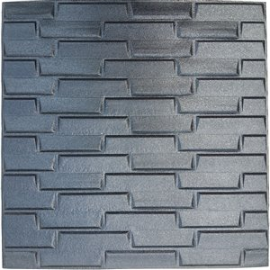 Black Faux Brick Self Adhesive 3D Wall Panel, 5-Pack