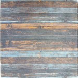 Charcoal Merigold Blue Faux Wood Self Adhesive 3D Wall Panel, 5-Pack