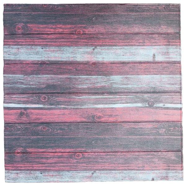 Charbon de bois rouge blanc cassé Faux bois auto-adhésif Panneau mural 3D