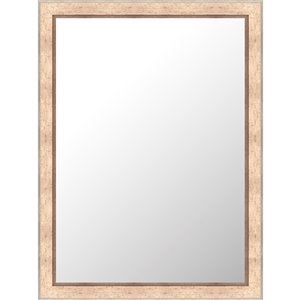 Mirrorize Canada 24-in x 32-in Rectangle Speckled Beige Framed Wall Mirror