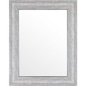 Mirrorize Canada 27.5-in x 35.5-in Rectangle White and Grey Framed Wall Mirror