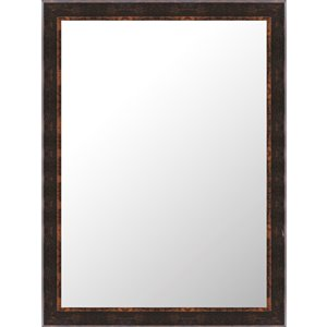 Mirrorize Canada 24-in x 32-in Rectangle Speckled Bronze Framed Wall Mirror
