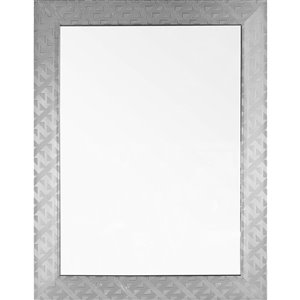 Mirrorize Canada 25-in x 33-in Rectangle Silver Patterned Framed Wall Mirror