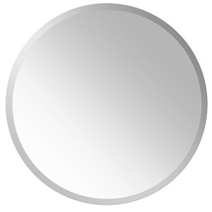 Mirrorize Canada 23.5-in x 23.5-in Round Silver Bevelled Wall Mirror