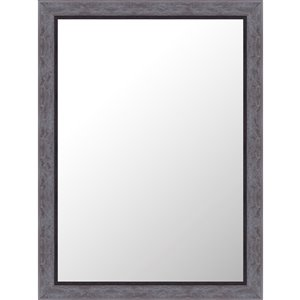 Mirrorize Canada 24-in x 32-in Rectangle Speckled Grey Framed Wall Mirror