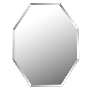 Mirrorize Canada 28-in x 22-in Octagon Silver Bevelled Wall Mirror