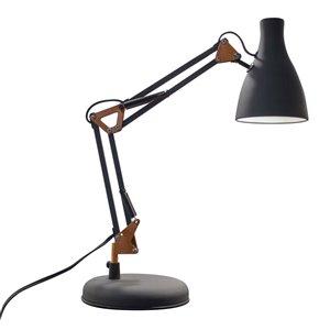 Lampe de table à interrupteur marche/arrêt à DEL noire de 20,5 po par BAZZ