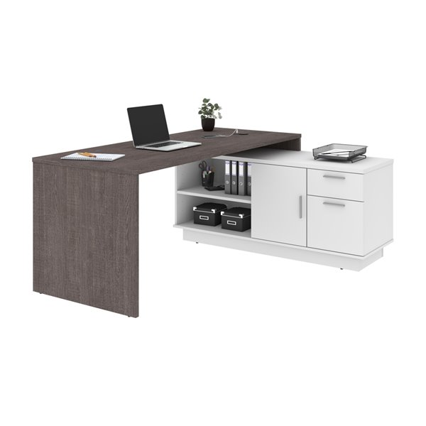 Bestar Equinox 71.1-in Brown Modern/contemporary L-shaped