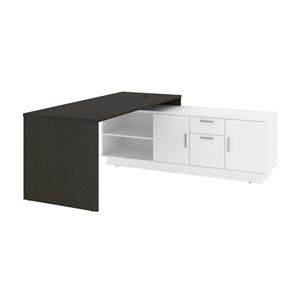 Bestar Equinox 71.1-in Modern/contemporary Deep Grey & White L-shaped