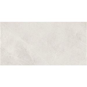 Tuile auto-adhésive en aluminium satiné de Surface Design, 16 po x 32 po, marbre perle, 6 pièces