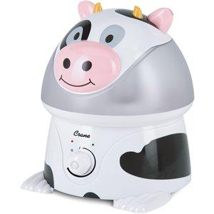 Humidificateur de table à ultrasons vache Adorable de 1 gal. pour pièces de 401 - 1000 pi² par Crane