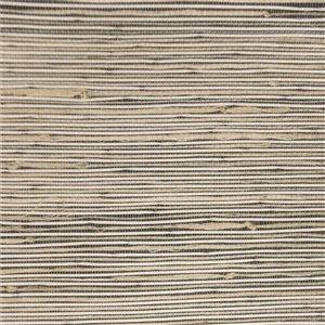 Papier peint Falkirk Elgin de Dundee Deco, toile de ramie 3D, 54 pi² beige, blanc et gris pâle sans colle à appliquer sur le