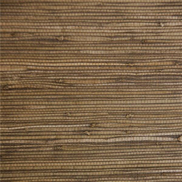 Papier peint Falkirk Elgin de Dundee Deco en toile de ramie 3D, 54 pi² beige et brun foncé sans colle à appliquer sur le mur