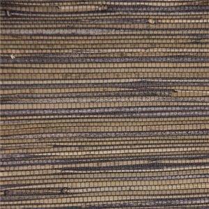 Papier peint Falkirk Elgin de Dundee Deco en toile de ramie 3D, 54 pi² gris acier et brun pâle sans colle à appliquer sur le