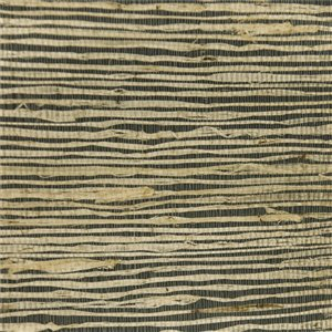 Papier peint Falkirk Elgin de Dundee Deco en toile de ramie 3D, 54 pi² noir et crème sans colle à appliquer sur le mur