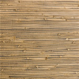 Papier peint Falkirk Elgin de Dundee Deco en toile de ramie 3D, 54 pi² gris sépia sans colle à appliquer sur le mur
