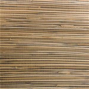 Papier peint Falkirk Elgin de Dundee Deco en toile de ramie 3D, 54 pi² beige foncé et charbon sans colle à appliquer sur le m