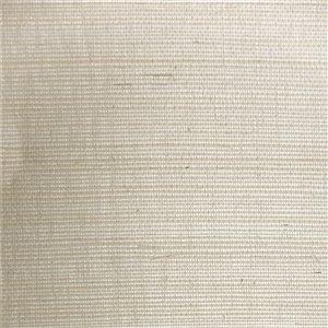 Papier peint Falkirk Elgin de Dundee Deco en toile de ramie 3D, 54 pi² blanc cassé sans colle à appliquer sur le mur