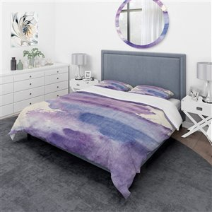Designart 3-Piece Purple Twin Duvet Cover