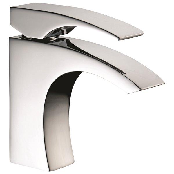 Robinet de salle de bains à 1 trou Rosana d'Agua Canada, levier unique, chrome, plaque comprise