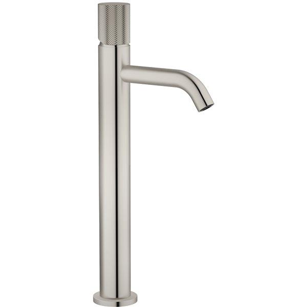 Robinet de salle de bains pour vasque Rosabella d'Agua Canada, levier unique, nickel brossé, plaque comprise