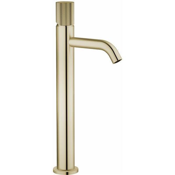 Robinet de salle de bains pour vasque Rosabella d'Agua Canada, levier unique, or brossé, plaque comprise