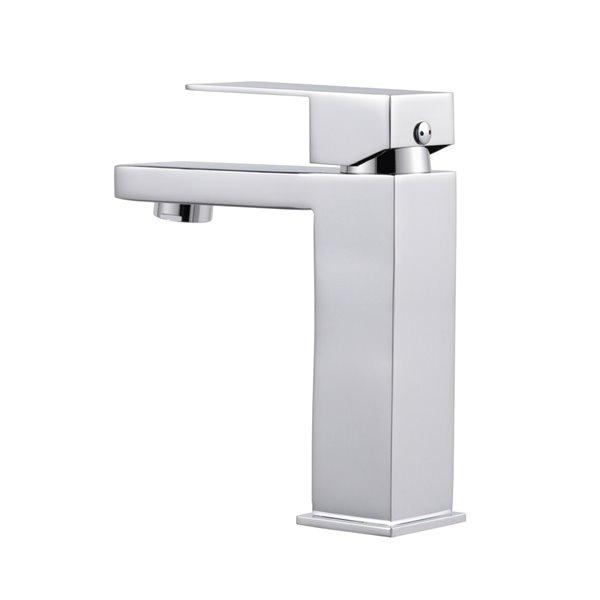 Robinet de salle de bains à 1 trou Rico d'Agua Canada, levier unique, chrome, plaque comprise