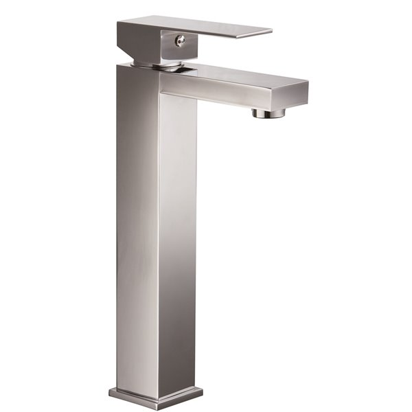 Robinet de salle de bains pour vasque Roberto d'Agua Canada, levier unique, chrome, plaque comprise