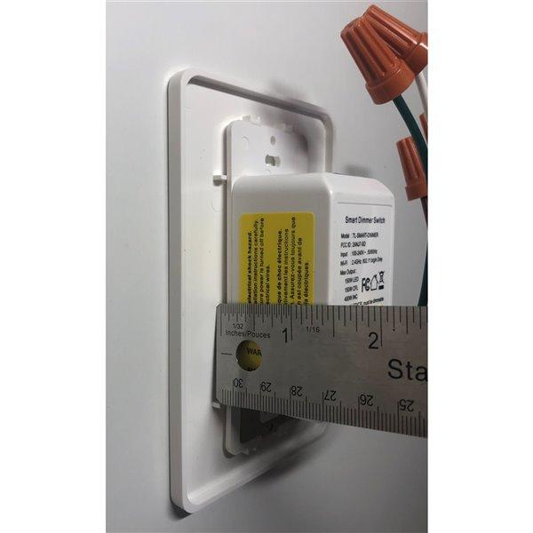 TorontoLed gradateur blanc contrôle à distance compatible avec éclairage à DEL, plaque murale incluse
