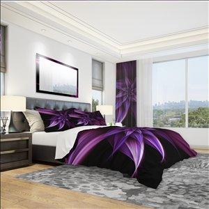 DesignArt 3-Piece Purple Modern & Contemporary Queen Duvet Cover Set