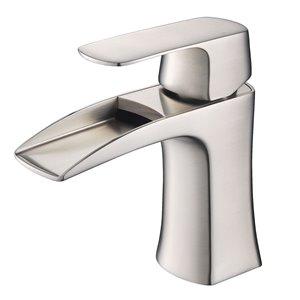 Fresca Fortore Brushed Nickel 1-handle Single Hole Watersense Labeled Bathroom Sink Faucet