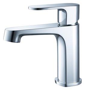 Fresca Gravina Chrome 1-handle Single Hole Watersense Labeled Bathroom Sink Faucet