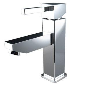 Fresca Versa Chrome 1-handle Single Hole Watersense Labeled Bathroom Sink Faucet