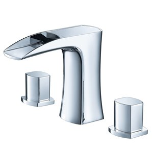 Fresca Fortore Chrome 1-handle Single Hole Watersense Labeled Bathroom Sink Faucet in Chrome