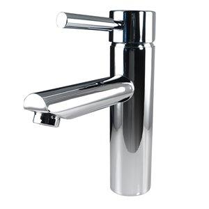 Fresca Tartaro Chrome 1-handle Single Hole Watersense Labeled Bathroom Sink Faucet