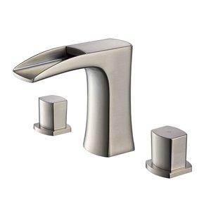 Fresca Fortore 1-handle Single Hole Watersense Labeled Bathroom Sink Faucet - Brushed Nickel