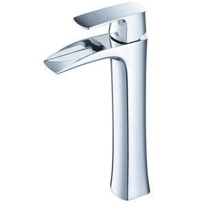 Fresca Fortore 1-handle Single Hole Watersense Labeled Bathroom Sink Faucet in Chrome