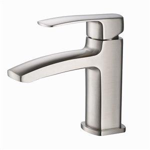 Fresca Fiora Brushed Nickel 1-handle Single Hole Watersense Labeled Bathroom Sink Faucet
