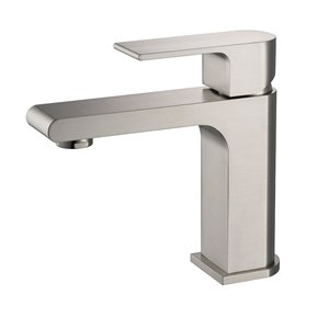 Fresca Allaro Brushed Nickel 1-handle Single Hole Watersense Labeled Bathroom Sink Faucet
