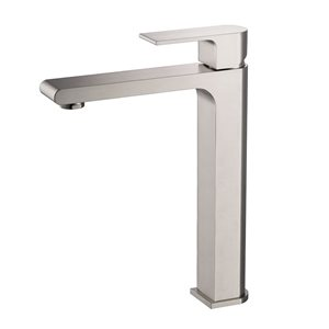 Fresca Allaro 1-handle Single Hole Watersense Labeled Bathroom Sink Faucet - Brushed Nickel