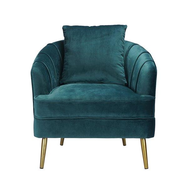 Fauteuil d'appoint moderne en polyester/mélange de polyester Tacko de FurnitureR, vert