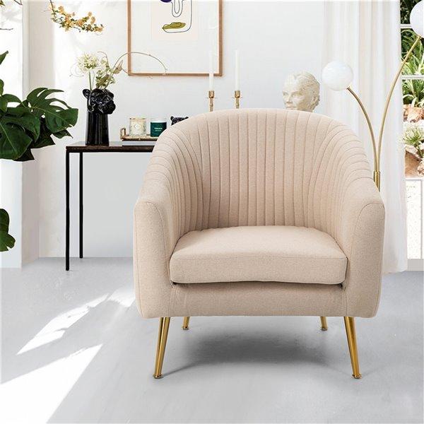 Fauteuil d'appoint moderne en polyester/mélange de polyester Trapp de FurnitureR, rose