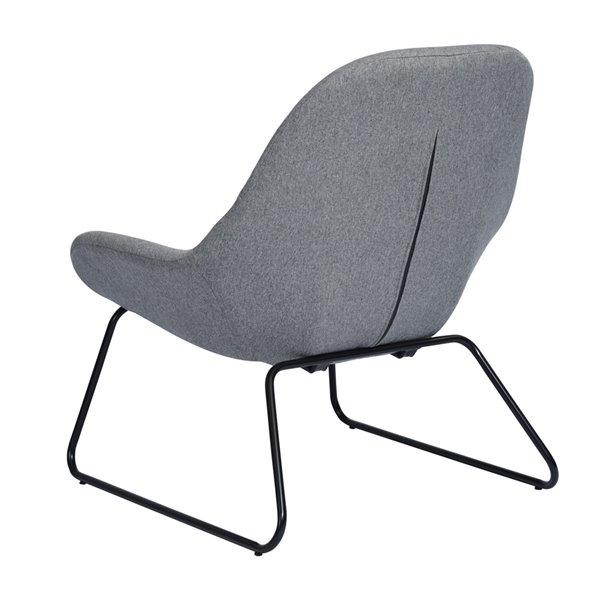 Fauteuil d'appoint moderne en polyester/mélange de polyester Esbly de FurnitureR, gris