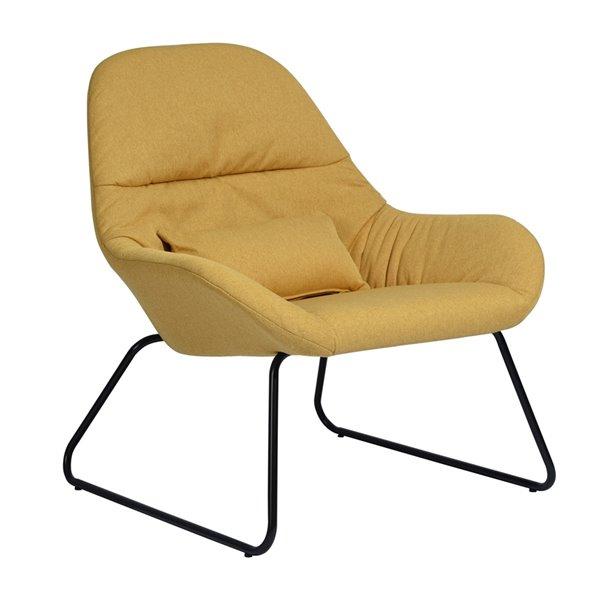Fauteuil d'appoint moderne en polyester/mélange de polyester Esbly de FurnitureR, jaune