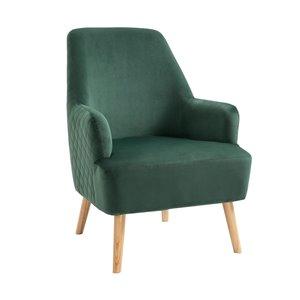 FurnitureR Hutter Modern Green Velvet Accent Chair