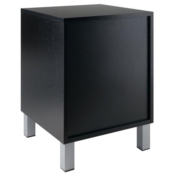 Table d'appoint en bois Cawlins, rectangulaire, noire, par Winsome Wood