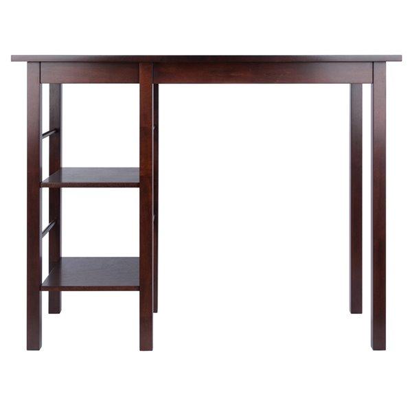 Table haute en bois de couleur noyer Egan, rectangulaire (35 po à 36 po h.) par Winsome Wood